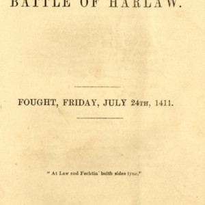 The Battle of Harlaw. Fought, Friday, July 24th, 1411